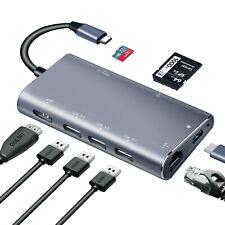 USB-C to HDMI RJ45 USB3.0 SD/TF hub For DELL HP ASUS Acer LENOVO ThinkPad dock