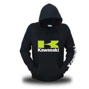 Genuine Official Kawasaki Superbike Ninja Extreme Motocross Black Hooded Hoodie
