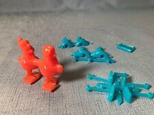Rare Vintage 1967 Disney 7 Dwarfs Ramp Walkers Cereal Premium toys Lot of 2