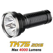 Fenix TK75 2015 4000Lumens 4x Cree XM-L2 U2 LEDs 4x18650 Flashlight Torch