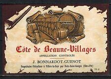 Etiquette de Vin(73cl) - Bourgogne -Côtes de Beaune Villages-Réf.n°72