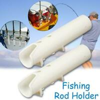 White Boat Plastic Rod Holder 2 Tube Fishing Plastic Holder Rod Specia Rack F8G8