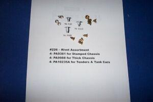 American Flyer Parts - Rivet Assortment - 12 pieces - #226
