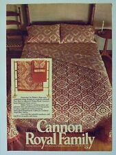 1974 Magazine Advertisement Page Cannon Royal Family Shaker Patch Bedding Ad