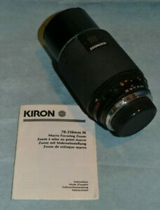 KIRON lens Pentax mount 70-210mm f4 Macro with 67mm UV filter