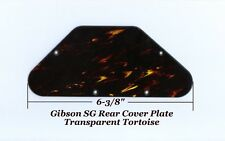 SG Transparent Tortoise Rear Cavity Control Cover for 2007 Gibson Guitar Project