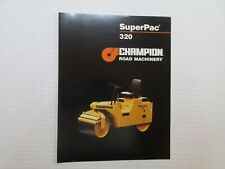 Champion SuperPac 320 Compaction Roller Color Literature