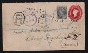 Canada 1899 10c UPU Registered Small Queen Cover to Bavaria Germany