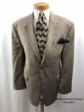 RALPH LAUREN LAUREN Men's Sport Coat Size 44S 2-Button Wool Brown Jacket Blazer