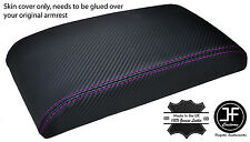 PURPLE STITCH FOR SUBARU IMPREZA WRX STI 2008-2015 ARMREST COVER CARBON VINYL