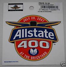 Nascar Brickyard Allstate 400 Event Logo Decal 2007 NEW
