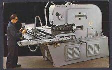 Ca 1946 POST CARD CAMBRIDGE MA BEHRENS TURRET PUNCH PRESS MINT VALUE $24.50