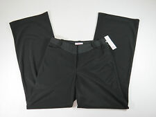 Allura Womens Black Wide Leg Stretch Dress Pant Slacks Size 4 $74
