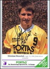 Wallau-Massenheim Autogrammkarte Handball Handsigniert 1994 Christian STOSCHEK