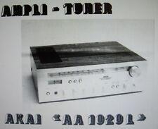 AKAI aa-1020l Verstärker-Tuner Instructions de Service Inc Schemas gedruckt Francais