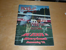 1995 MARYLAND AT NC STATE  COLLEGE FOOTBALL PROGRAM EX-MINT