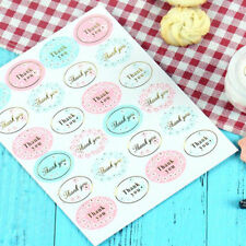 "120Pcs Oval ""Thank You"" Adhesive Seal Sticker Label Envelope Decor Wedding Gift"