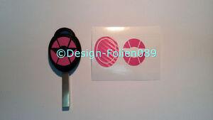 Carbon Rosa Folie Dekor Schlüssel  Cooper JCW S Mini R53 John Works