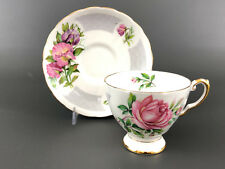 vintage Tuscan fine bone china, cup & saucer, birthday flowers,  SWEETPEA D1097