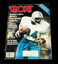 EARL CAMPBELL NFL HAND SIGNED AUTOGRAPHED SPORT MAGAZINE WITH COA VERY RARE