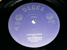 """THE ZOMBIES - SHE'S NOT THERE 7"""" MONO BRIT PSYCH GARAGE - DECCA F 11940"""