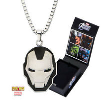 Marvel Stainless Steel Iron Man Pendant With 24 Inch Inox Jewelry Necklace