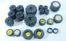 Lot of 19 Lego Wheels Technic Mindstorm Tries