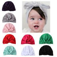 Autumn Winter Velvet Baby Girls Boys Newborn Toddler Turban Cap Head Hat Sleeve