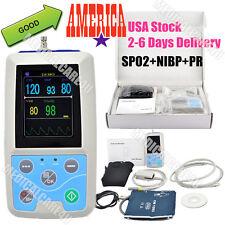 US Seller,PM50 Portable Patient Monitor Ambulatory Blood Pressure Monitor+ SPO2