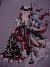 WINTER WHITE SANTA, CHRISTMAS Counted Cross Stitch PATTERN + EMBELLISHMENTS NIP