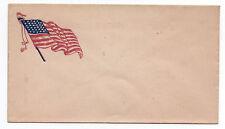 1860s US Civil War Patriotic Cover with American Flag