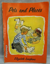 Vintage Childrens Book PETS AND PLACES Elizabeth Langhans 1963