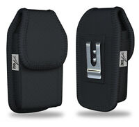 AGOZ Vertical Flip Phone Case Belt Clip Holster Pouch for GreatCall Lively Flip