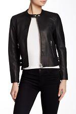 Muubaa Leather Black Biker Jacket UK10 Bargain!!! RRP £450