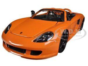 2005 PORSCHE CARRERA GT ORANGE 1/24 DIECAST MODEL CAR BY JADA 96955
