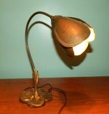 Rare 1930's Art Deco McClelland Barclay Crocus Desk Lamp Bronze Finish Original
