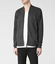 Mens All Saints Zip Up Oldsen Bomber Jumper Jacket Dark Grey Size XS Allsaints