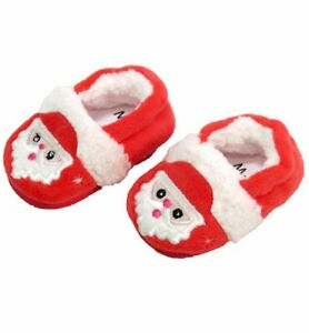 """Christmas Santa Claus Slippers fit 18"""" American Girl Size Doll"""