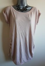 Size 12 Maternity Top NEW LOOK Pale Peach Loose Casual Fit Women's