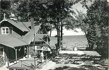 A View of the Office, Benton's Shangri-La Resort, Houghton Lake MI RPPC