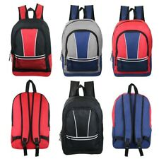 "Lot of 24 Wholesale Bulk 17"" School Backpacks Backpack Bag Assorted Colors New"