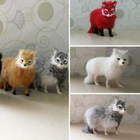 Realistic Simulation Fox Animals Model Plush Toy Stuffed Fluffy Doll Kid Gift-