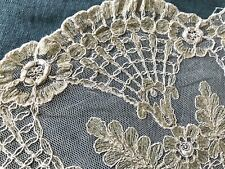 Antique Hand Embroidered Lace Doily 38cm / 15""