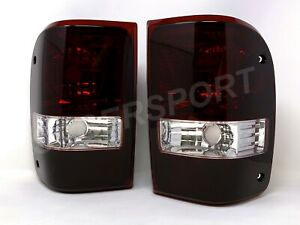 Pair Eagle Eyes Dark Red OE Replacement Taillights for 2001-2011 Ford Ranger