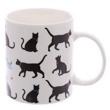 I Love My Cat - Cat Silhouette Bone China Mug - BNIB