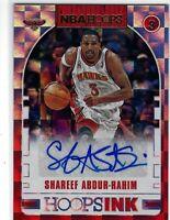 SHAREEF ABDUR-RAHIM 2018-19 PANINI NBA HOOPS HOOPS INK AUTO