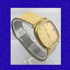 Retro & Vintage 14k Gold Longines Bracelet Quartz Gents Wrist Watch 1979