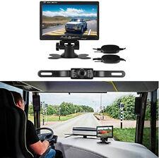 "Wireless Car Caravan Van 170° License Plate Backup Camera + 7"" TFT LCD Monitor"