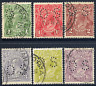AUSTRALIA 1924 KGV HEAD OFFICIAL SET TO 4½D VERY FINE CDS USED. GIBBONS O79-O84.