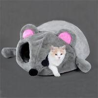 Cartoon Mouse Cat Cave Dog Pet House Cushion Nest Soft Mat Sleeping Bed Igloo